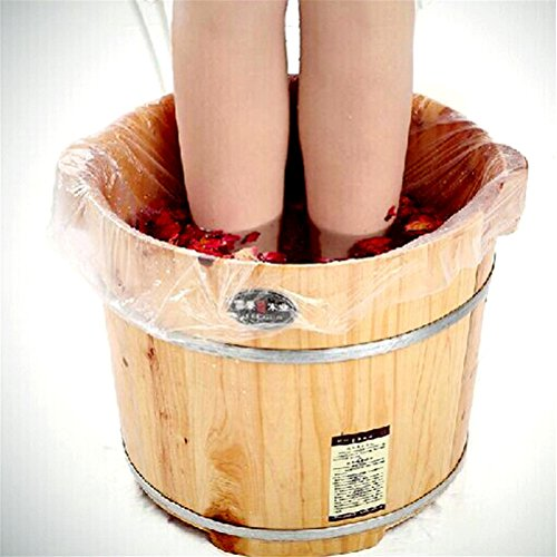 Peize HOT!!! 60Ps Disposable Foot Tub Liners Bath Basin Bags for Foot Pedicure Spa (Hot Tub Liners)