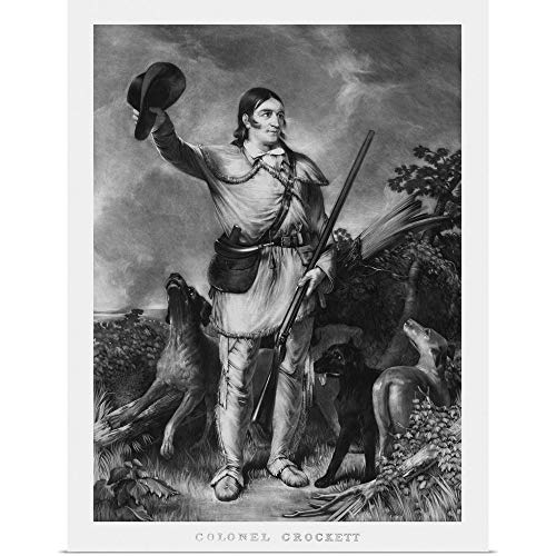 GREATBIGCANVAS Poster Print Entitled Print of Folk Hero and Frontiersman Davy Crockett by John Parrot 36