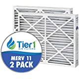 Tier1 20x25x6 MERV 11 Aprilaire / Spacegard #201 SG6?2025?11 SGMPR Comparable AC Furnace Air Filter - 2 Pack