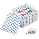 Blocking Mats for Knitting - Pack of 9 Extra Thick Boards with Grids, comes with Box of 30 T-pins and Reusable Storage Bag for Needlework, Crochet or Lace - KnitIQ