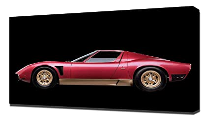 Amazon Com Lilarama Usa 1972 Lamborghini Miura P400 Svj V2 Canvas