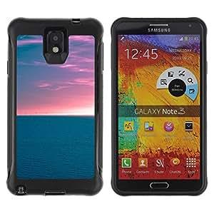 Pulsar iFace Series Tpu silicona Carcasa Funda Case para SAMSUNG Galaxy Note 3 III / N9000 / N9005 , Horizon Ocean
