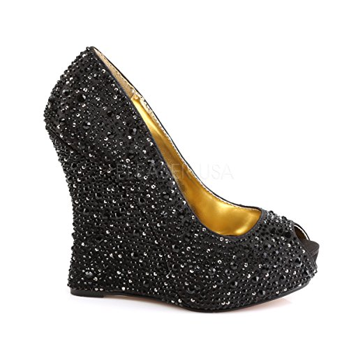 Fabulicious ISABELLE-18 Blk Satin pg69r