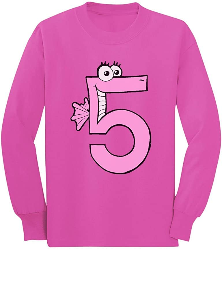 Im 5 Toddler//Kids Long Sleeve T-Shirt Five Years Old Girl Birthday Gift