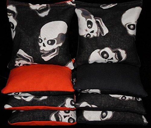 [Cornhole Bean Bags Scary Skulls Skeleton Halloween Spooky 8 Aca Regulation Bags] (Halloween Bean Bag Toss)