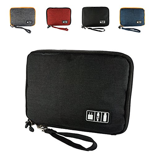 DREAM.ELK Double Layer Electronic Accessories Organizer Travel Gadget Carry Bag Cases USB Cable Organizer Bag Men Women's for Travel Outdoor Sport Photography Walking