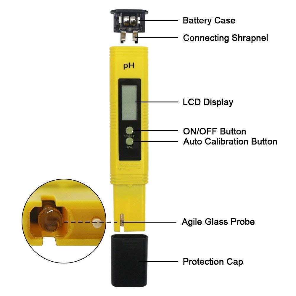 WEALTH Medidor de pH portátil, medidor Digital de Calidad ...