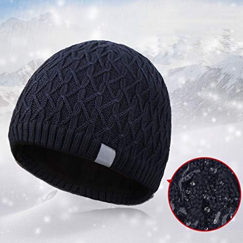 Sombrero Invierno Al Punto De Micro Gorro Gorro Sombrero Frijol Black Libre Moda Sombrero Baotou De Punto De EláStico De Engrosamiento Aire Invierno De Sombrero De qTwxUq