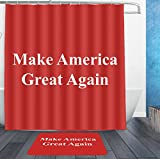 SWEET TANG Make America Great Again Shower Curtain Liner With Hooks and non slip bath rug mat Mildew Resistant Waterproof Polyester Fabric Bathroom Decor Set 72x72/16x24