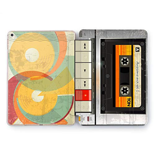 Wonder Wild Tape Recorder Design Case For Apple iPad 2 3 4 Pro 9.7 11 inch Mini 1 2 3 4 5 Air 2 10.5 12.9 2018 2017 5th 6th Gen Clear Smart Hard Cover Play Stop Pause Awesome Mix Retro Vintage 80s 90s