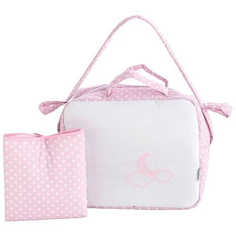 Pekebaby Bolso + vestidor MOON rosa: Amazon.es: Bebé