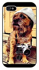 iPhone 6 Case Hipster dog with camera - black plastic case / dog, animals, dogs