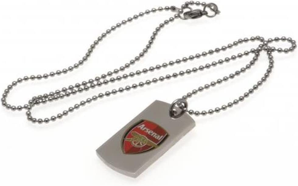 Birthday Gift Idea For Men And Boys Arsenal FC Official Football Gift Colour Crest Dog Tag /& Chain A Great Christmas