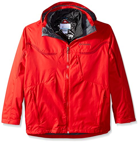 Columbia Whirlibird  Interchange Jacket,Mens,Bright Red,XL