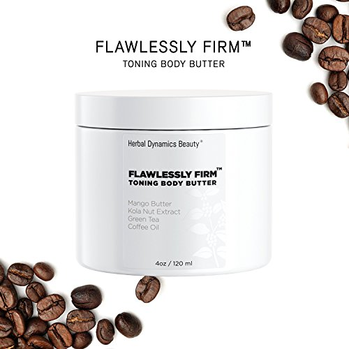 (HD Beauty Flawlessly Firm Toning Body Butter with Mango Butter, Kola Nut Extract, Green Tea, Coffee Oil, Avocado Oil, and Vitamin E for Diminishing Appearance of Cellulite, 4.0 oz)