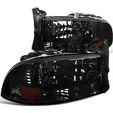 Spec-D Tuning 2LH-DAK97G-ABM Dodge Dakota/ Durango Slt R/T Headlights W/Bumper Lights 1Pc. Smoked