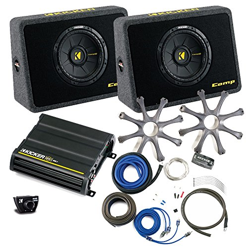 "Kicker Bass package - Two 10"" CompS in ported truck boxes wi"