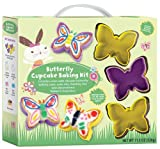 Butterfly Cupcake Baking Kit Party Supplies (Yellow)