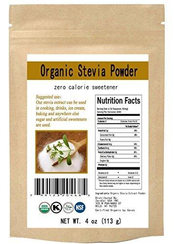 Organic Stevia Powder Natural Sweetener Zero Calorie Sugar Substitute 4oz