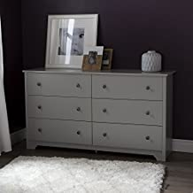 South Shore Furniture Vito 6-Drawer Double Dresser, Soft Gray