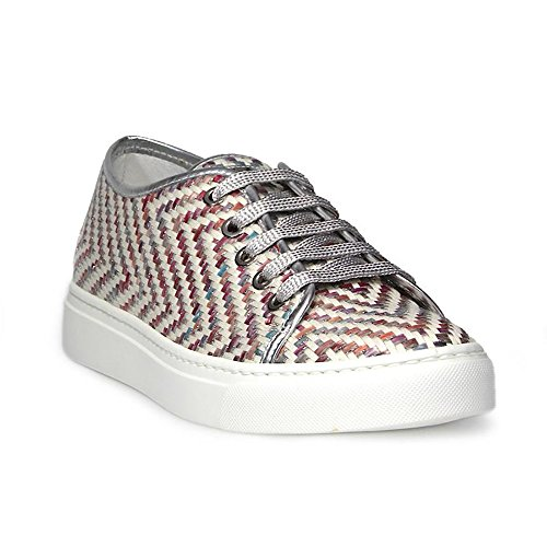 Barracuda Sneakers Donna BD04572 Pelle Argento/Bianco