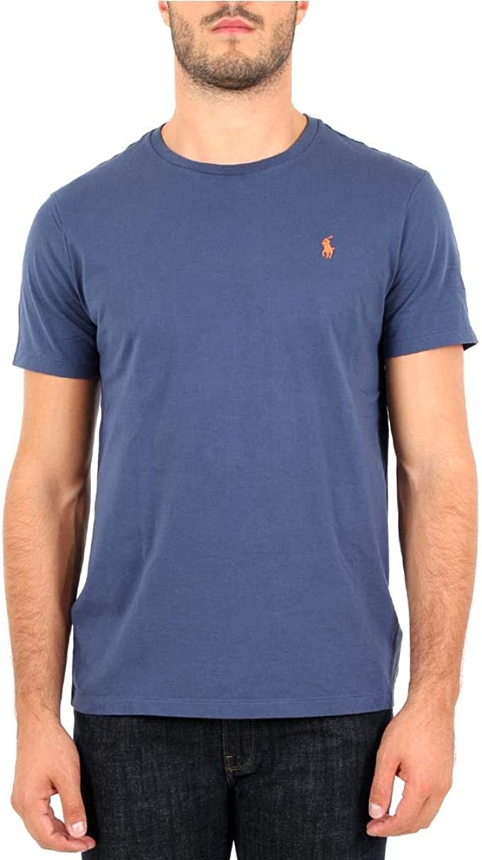 Polo Ralph Lauren T-Shirt in Cotone Custom Slim-Fit Uomo Mod ...