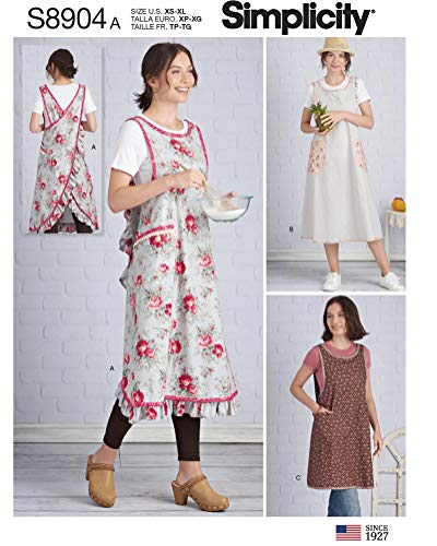 - Simplicity Sewing Pattern S8904A - Use to Make - 3 Designs of Misses' Wraparound in Two Lengths