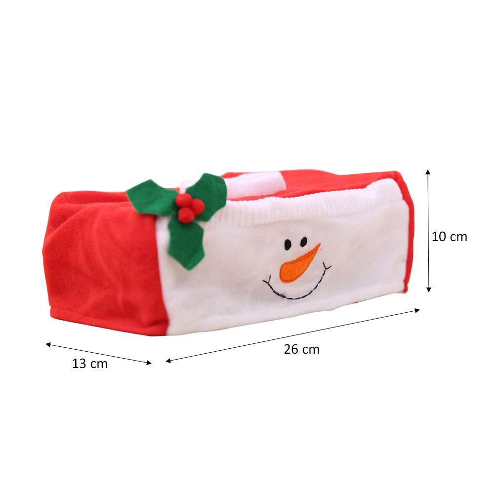 BESTOYARD Tejido de Navidad pañuelo de Papel de la Cubierta de la Caja del sostenedor de la decoración del Partido de Navidad 2 unids (Muñeco de Nieve): ...