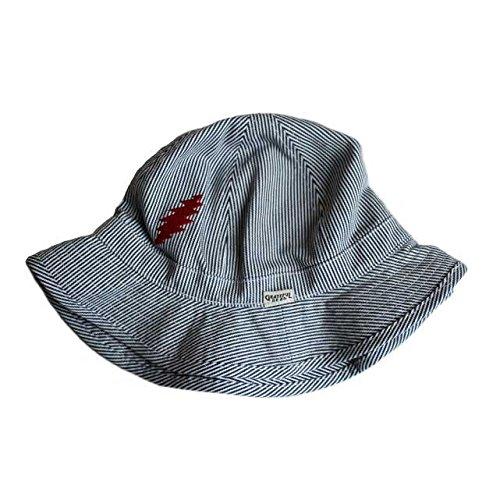 夕方未亡人くしゃくしゃGrateful Dead Bolt Hickory Bucket Hat グレイトフルデッド ボルト ヒッコリー バケットハット