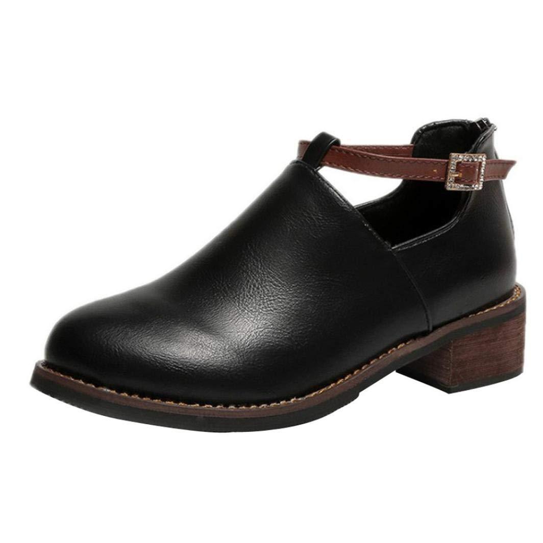 Zapatos Mujer, Moda Mujer Botas Redondas Dedo del pie Martin Botas clásicas Botines Zapatos Casuales