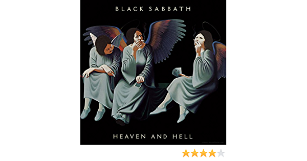 Poster Affiche Black Sabbath Vintage Album Cover Heaven And Hell Hard Rock