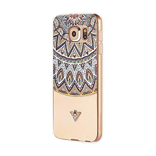 Galaxy S6 Case , Swees Slim Thin Soft Silicone Gel TPU Case Special 3D Relief Printing Pattern Design Scratch Resistant Full Protective Back Cover for Samsung Galaxy S6 (2015 Released) , Totem