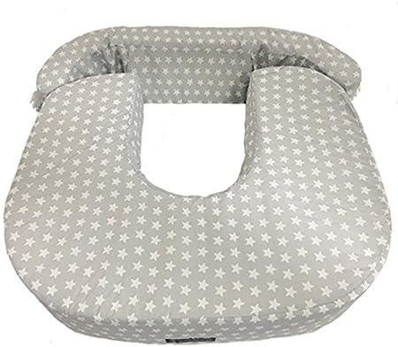 Cojín lactancia gemelar: La almohada, ideal para lactancia mixta para mellizos o gemelos, tiene un t
