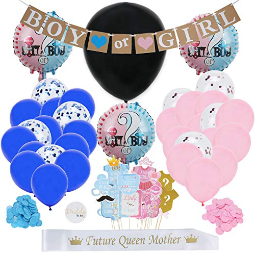 Sokoni Gender Reveal Party Supplies - With 36
