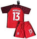 2016-2017 Alex Morgan #13 New USA National 3rd Jersey and Shorts for Kids/Youth (9-10 Years Old)