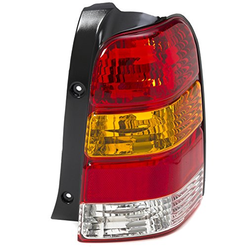 CarPartsDepot 01-07 Ford Escape Right Taillamp FO2818102 Red Brake Amber Signal Clear Rev Lens (2001 Ford Escape Xlt)