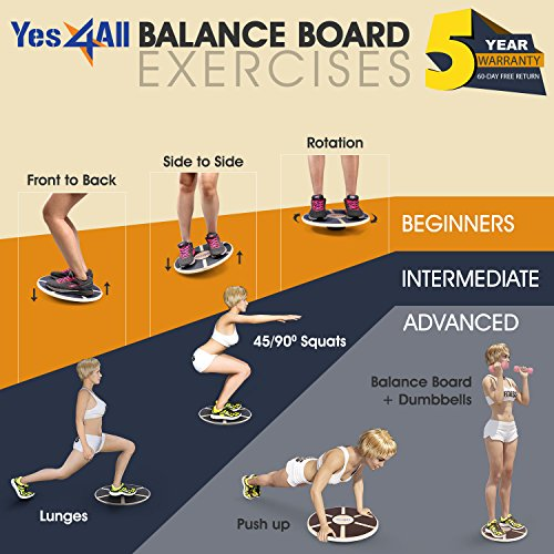 Balance Board Workout: Yes4All Wooden Wobble Balance Board