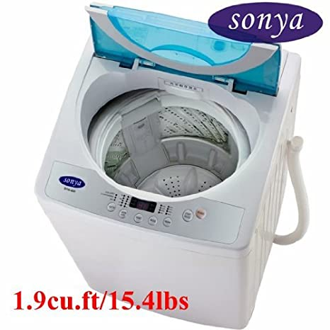 A new washing machine in the bathroom for our guests\' convenience