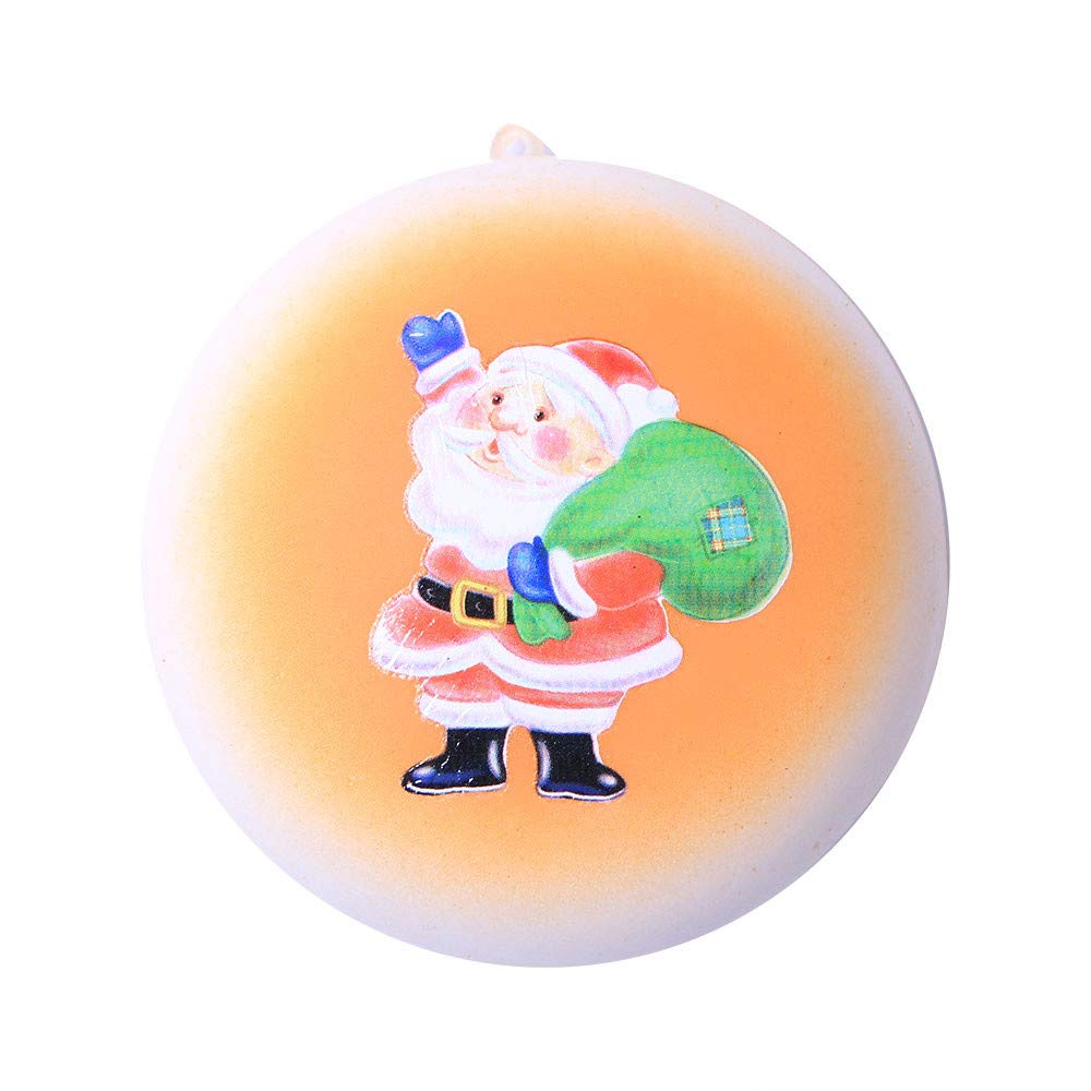 DIGOOD Squishies Toy Santa Claus Bread Slow Rising Scented Relieve Stress Toy Key Pendant