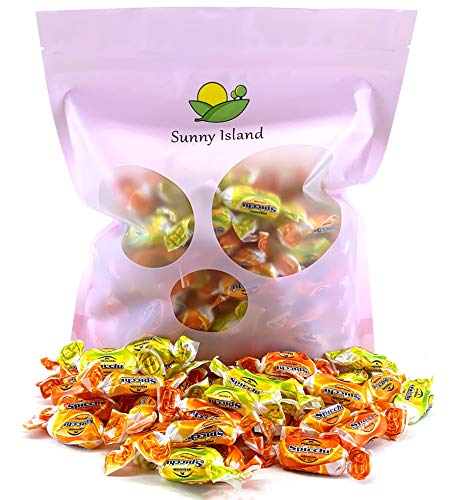 (Sunny Island Bulk - Perugina Sorrento Spicchi Italian Hard Candy, Citrus Assorted Flavors, Gluten Free Candy, 2 Pounds Bag)