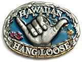 HANG LOOSE HAWAII Belt Buckle Hawaiian Islands Maui