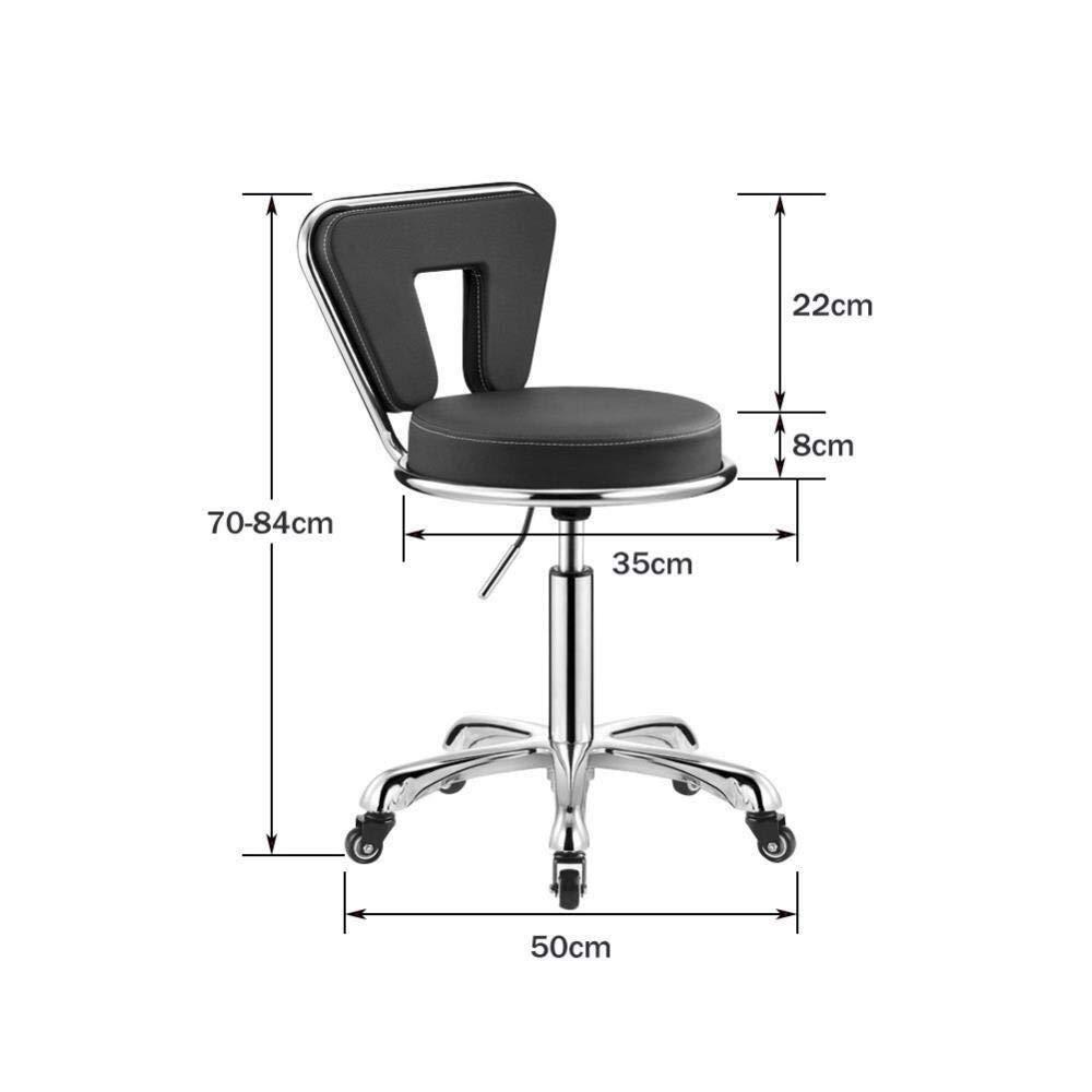 Executive Recline frisörpall, PU-läder verkställande stol hem kontor användning modern svängbar svart svängbar stol vadderad kontorsstol (färg: svart) Svart