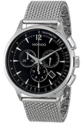 Movado Men's 0606803 Movado Circa Stainless Steel Watch with Mesh Band
