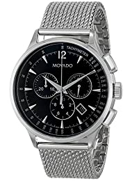 Movado Men's 606803 Circa Analog Display Swiss Quartz Silver Watch