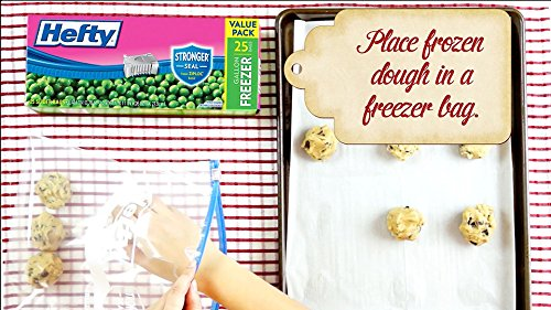 Hefty Slider Freezer Bags, Quart Size, 74 Count