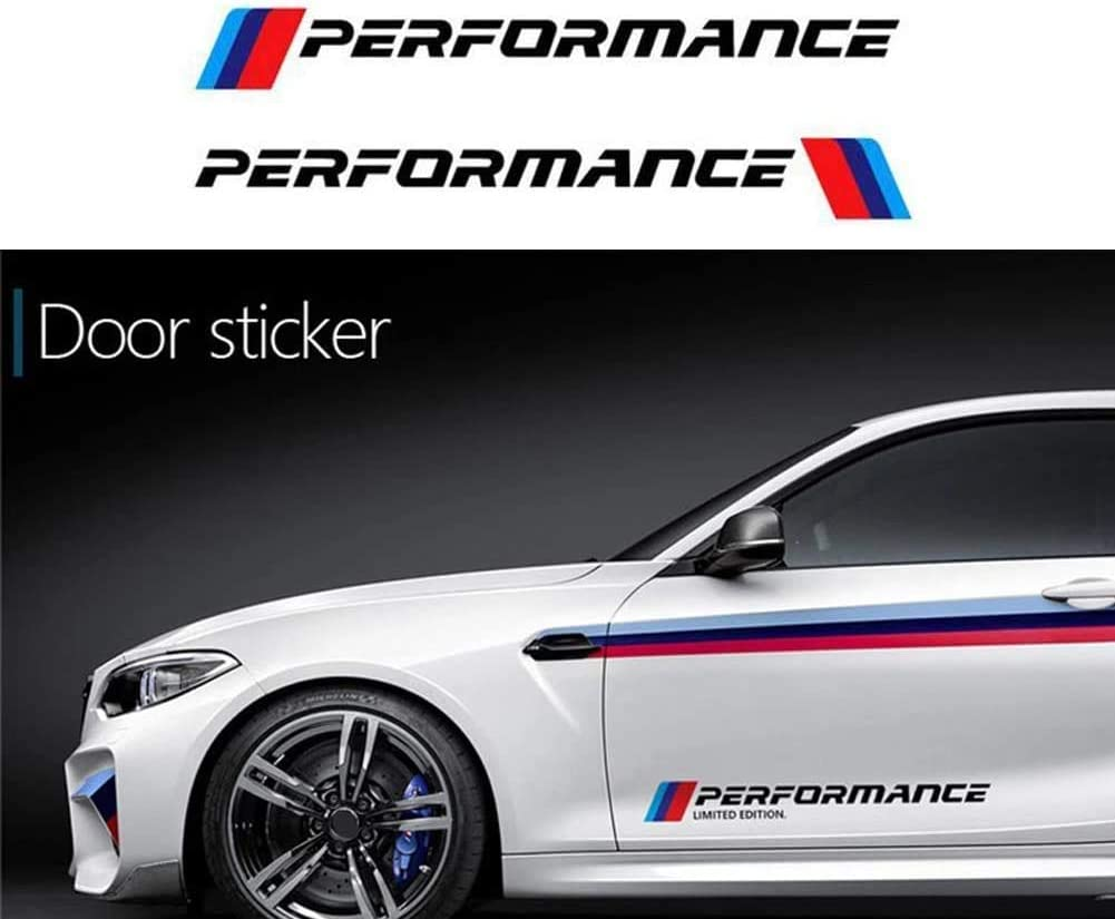 Black Door Handle Duoles New Car Sports Styling Racing Decoration Performance Door Handle Stickers Front Decal Styling For BMW M3 M5 X1 X3 X5 X6 E36 E39 E46 E30 E60 E92