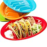 4 Pack Taco Holder, Colorful Taco Plates