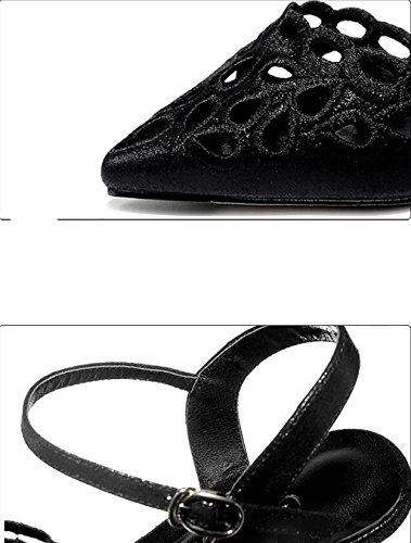 35 Sandalias hueco sexy B A mujer Baotou con de zapatos Tamaño de de planas tacones de señoras altos Sandalias Sandalias sandalias de moda FAFZ verano Corea Color 7fHqOw4ggx
