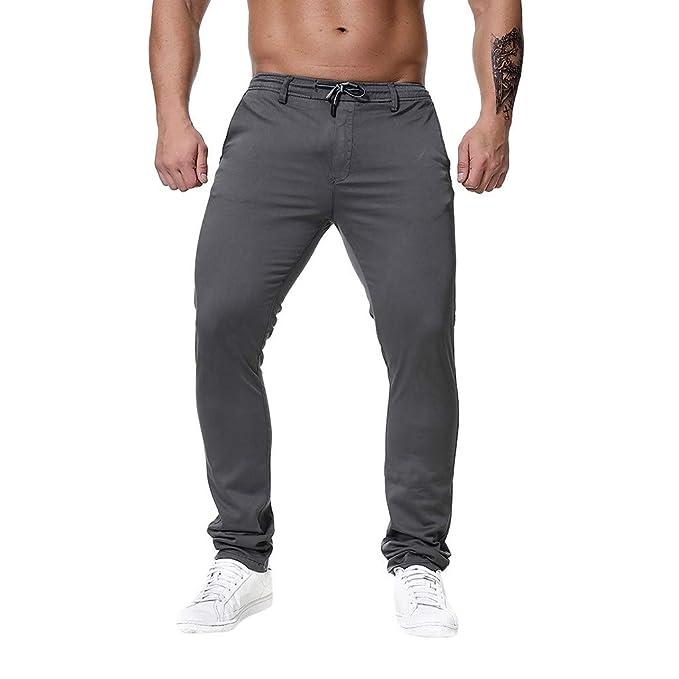 ... PantalóN Deporte Hombre Largo Pantalones De Correr con Bolsillo Ropa Deportiva Tallas Grandes Pantalones Rectos S-6Xl: Amazon.es: Ropa y accesorios