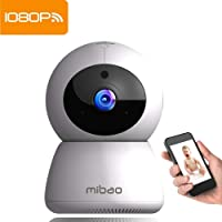 Mibao Telecamera Sorveglianza Wifi Interno 1080P Videocamera IP, Visione Notturna, Allarme via App, Audio Bidirezionale, Rilevamento Movimento, Pet/Elder/Baby Monitor, Compatibile con iOS e Android